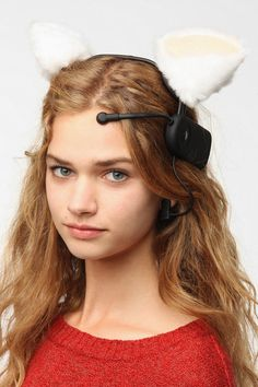 OK, this is weird, but do you kind of want it? Cat ears will move according to your changing moods....for real. #urbanoutfitters....I  sadly want this, lol
