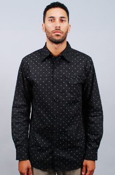 Locke Button Down - Black by BLOODBATH GET 25% OFF YOUR ORDER USING REPCODE: FAIRMONT AT KARMALOOP !