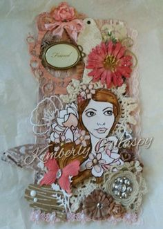 Prima Doll stamps by Jamie Dougherty. Tag ~ Prima~ Julie Nutting Doll Stamps.