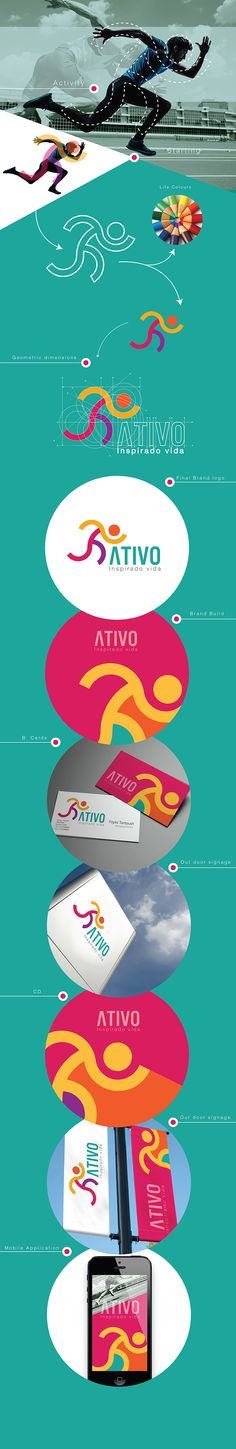 Ativo, sporting events - Brazil by Abed Marzouk, via Behance                                                                                                                                                      Plus