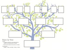 free family tree template to print - Google Search