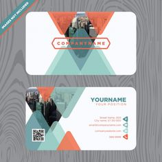Diseño de tarjeta de visita Vector Gratis