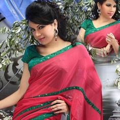 Looking for latest designer party wear sarees or traditional party wear sarees? Shop online from the party saree collection at Utsav Fashion for fancy party sarees. Party Wear Sarees Online, Party Sarees, Red Saree, Saree Blouse, Designer Kurtis Online, Fancy Party, Bindi, Saree Collection, Anarkali