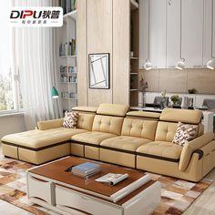 Купить Кожаный диван Di Pu в интернет-магазине с Таобао (Taobao) из Китая, низкие цены | Nazya.com Living Room Sofa, Sofa Set, Decoration, Couch, Shape, Furniture, Home Decor, Art, Stuff Stuff