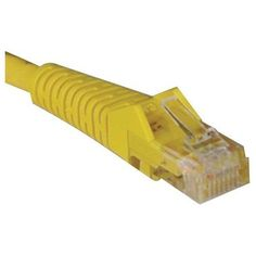 Tripp Lite, Cat5e Cat5 Snagless Molded Patch Cable Rj45 M/M Patch Cable Rj-45 (M) Rj-45 (M) 5 Ft Utp Cat 5E Molded, Stranded, Snagless Yellow Product Category: Supplies & Accessories/Network Cables