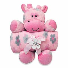 Your child will love this soft and cuddly plush toy with matching blanket. It comes in a pretty pink pattern and is the perfect gift for your little girl. Baby Nursery Furniture, Nursery Room Decor, Baby Registry, Wedding Gift Registry, Crib Bedding, Bedding Shop, Giraffe Nursery, Cute Baby Clothes, Gifts For Girls