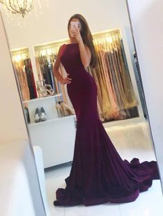 New Arrival Mermaid Evening Dress, Sexy Backless Long