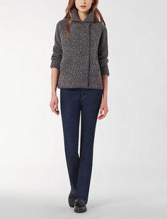 Max Mara DANIELA grey: Melange knit jacket.