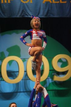 a point to make: she has washboard abs, You only get that in sports. Cheerleading is a sport!