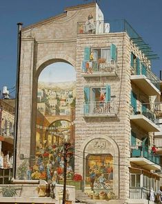 This mural is on Agrippas street in Jerusalem, right next to the shuknion, down the street form the Ben Yehudah outdoor market