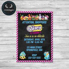 Shopkins Party Invitation (Digital File)