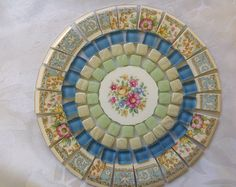 Browse unique items from ChinaGardenMosaics on Etsy, a global marketplace of handmade, vintage and creative goods. Mosaic Garden Art, Mosaic Art, Broken China, Broken Glass, China Garden, Mosaic Stepping Stones, Garden Totems, Concrete Art, Mosaic Ideas