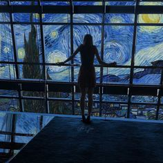 Starry Night Vincent van Gogh inspired Arte Van Gogh, Van Gogh Art, Art Hoe Aesthetic, Night Aesthetic, Vincent Van Gogh, Sky Gazing, Van Gogh Paintings, Art Pages, Photomontage
