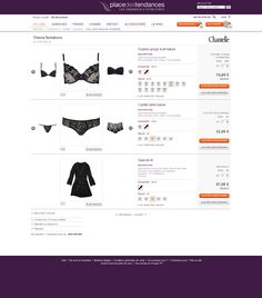 #Axance - Place des tendances #website #redesign - Multi product page