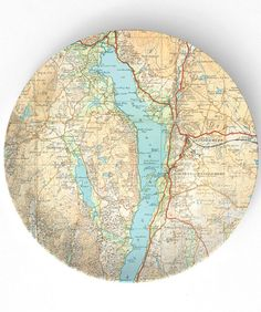 antique map beautiful windermere map on 10 inch by themadplatters