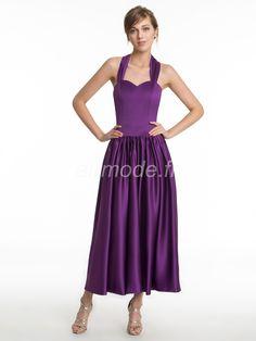 fournitures de airmode.frl'hiver purple halter toutes tailles naturel thé longueur chute robe Robe Demoiselle D'honneur Pourpre