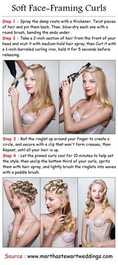Beautiful #curls - great tutorial pics!