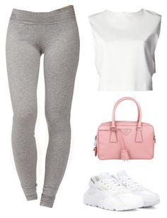 """""""'@'"""" by hosana-tsarnaev ❤ liked on Polyvore featuring Forever 21, ADAM, NIKE and Prada"""