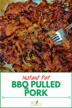 Instant Pot BBQ Pulled Pork - Clean Eating - 90/10 Nutrition Healthy Meals For Kids, Healthy Dinner Recipes, Healthy Habits, Healthy Foods, Healthy Eating, Bbq Pork Roast, Making Pulled Pork, Pulled Pork Recipes, Instant Recipes