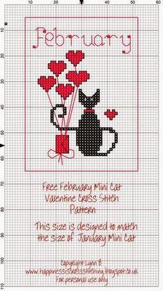 Happiness is Cross Stitching : Mini Cat Cross Stitch Freebies: