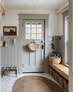 Style Me Pretty Living, First Home, Cozy House, Mudroom, My Dream Home, Living Spaces, Living Room Windows, Family Room, House Plans