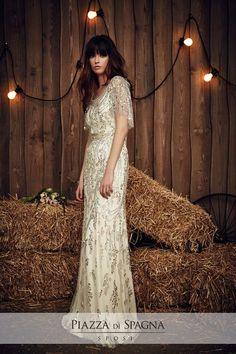Wedding dress by Jenny Packham from the 2017 Bridal collection. Image courtesy of Jenny Packham. Jenny Packham Wedding Dresses, Jenny Packham Bridal, Jenny Packham 2017, Spring 2017 Wedding Dresses, Bridal Dresses, Dresses 2016, Pretty Dresses, Beautiful Dresses, Trends 2016