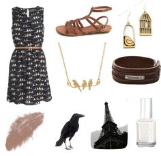 """Vintage in Paris"" by bellalovesbunnies ❤ liked on Polyvore"