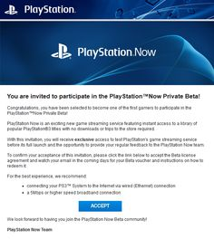 Sony-Have-Begun-PS-Now-Beta-Invites  Sony have confirmed with PS4.sx that they have begun sending out invites for Playstation Now, Sony's cloud-based game-streaming service. The invites are being sent to a number of users, so if you have signed up for the beta make sure to check your emails for the notification.  #PSNow #PlaystationNow #BetaInvite