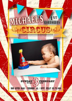 Vintage Circus Invitation by SendingItInStyle on Etsy, $15.00