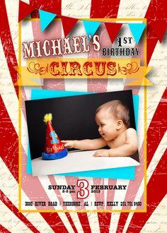 Vintage Circus Invitation by SendingItInStyle on Etsy, $15.00
