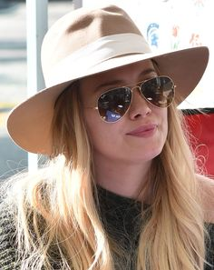 Hilary Duff at the Farmers Market in Los Angeles, California on December 18, 2016