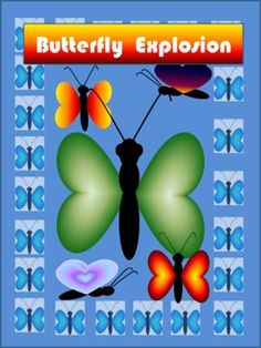 FREE-A Butterfly Explosion Clip Art Set