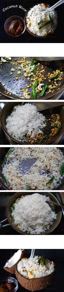 Coconut Rice - A super flavorful rice that can be made in a short time. One of the best ways to put into use any leftover rice sitting in your refrigerator.
