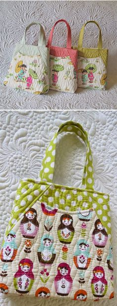 Learn to sew long-lasting quilted bags with professional look. #bagpatterns #quiltedbags #quiltedbagpatterns