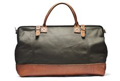 Canvas & Leather Weekender Bag (Olive) - Kaufmann Mercantile