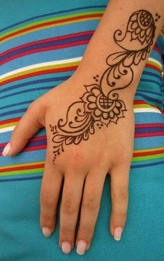 Mehndi Design Henna Art: Short Simple Hand Mehndi Design No 06