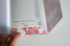 Aesthetic Nest: Craft: Pretty Paper-Covered Composition Books (Tutorial)