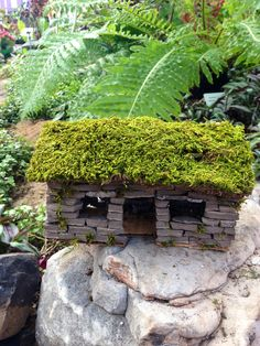Miniature hand made stone house