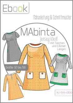 Ebook  Damen A-Linien Kleid MAbinta - Schnittmuster und Anleitung als PDF, versandkostenfrei