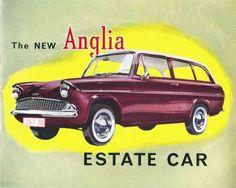transpress nz: 1961 Ford Anglia Estate Car brochure cover