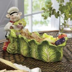 Chef Piggy Cracker Dish from Through the Country Door®
