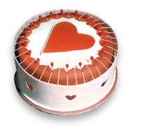 White round valentine cake with a big heart in the center. Valentine Cake, Be My Valentine, Cake Gallery, Cake Pictures, Holiday Cakes, Holidays, Big, Heart, Holidays Events