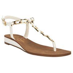 Jessica Simpson Joey Chain Flat Sandal #VonMaur