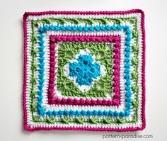 Free crochet pattern: English Garden Afghan Square by Pattern Paradise