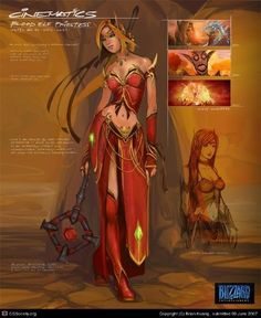 World of Warcraft Blood Elf Priest Cosplay Costume - World of Warcraft - Costumes - Cosplay