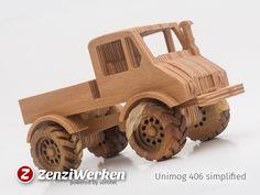 ZenziWerken | Willys MB – The Grille Minimodell Sperrholz