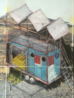 Campo Libero (The Innocent House), mobile pavilion for the reactivation of land confiscated from the mafia. Tabula Rasa, Pavilion, Mafia, House, Painting, Home, Painting Art, Paintings, Sheds
