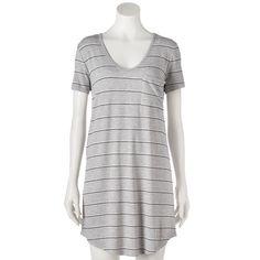 Juniors' SO® Short Sleeve T-Shirt Dress, Med Grey