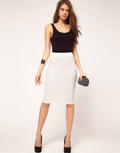 Lace pencil skirt for only $32.72?! Oh ASOS I love you!