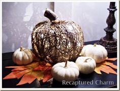 made with dollar store pumpkins - cool!
